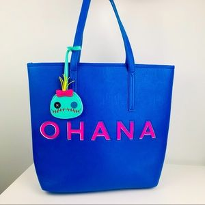 Loungefly Disney Lilo & Stitch Ohana Blue Tote Bag